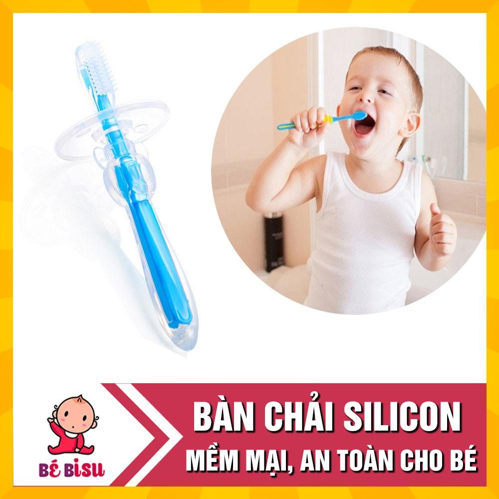 [Nhập MKBBEBI01 giảm 10%] Bàn chải đánh răng silicon an toàn cho bé