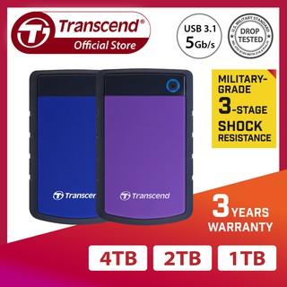 [Mã ELMALL300 giảm 7% đơn 500K] Ổ Cứng Di Động Transcend Rugged StoreJet 25H3 USB 3.0