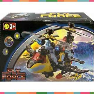 Đồ chơi bé trai máy bay trực thăng pin tự di chuyển có đèn nhạc – 719 Gía Rẻ