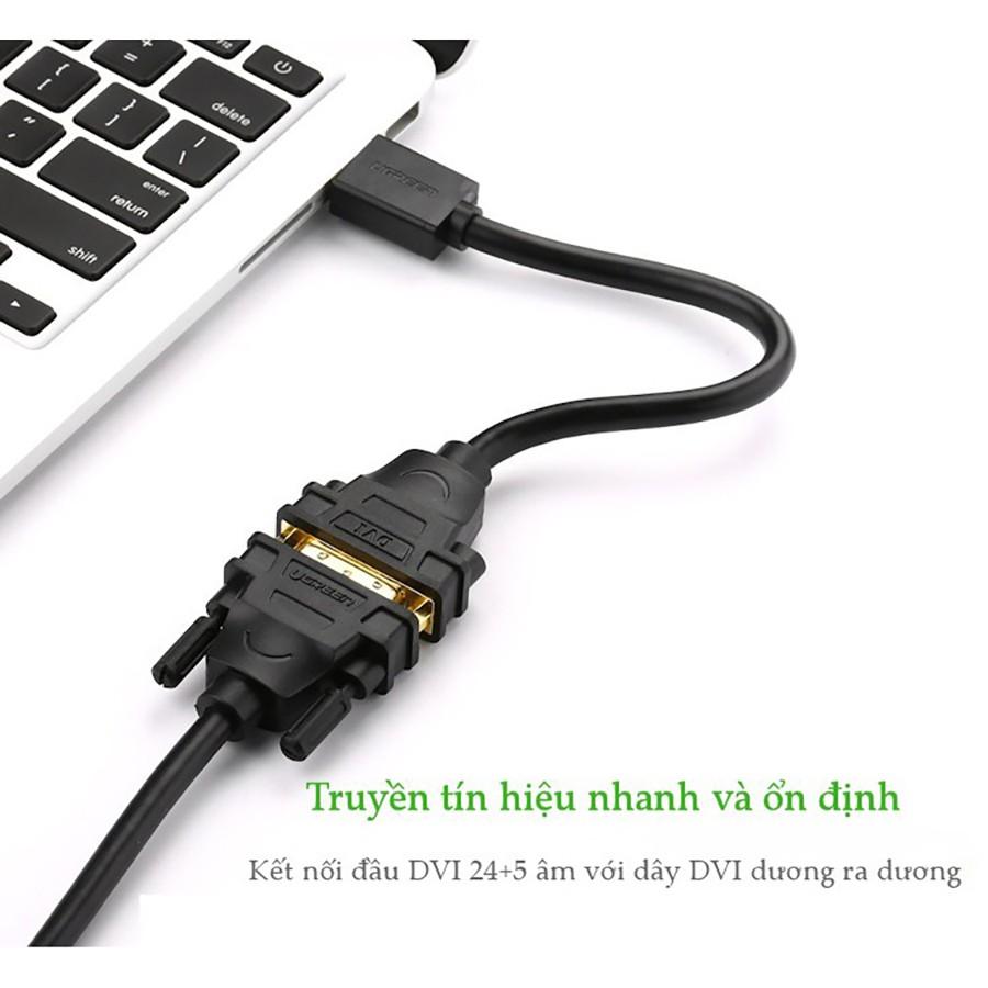 Cáp chuyển đổi HDMI đực sang DVI cái Ugreen 20136 dài 20cm chính hãng - HapuStore