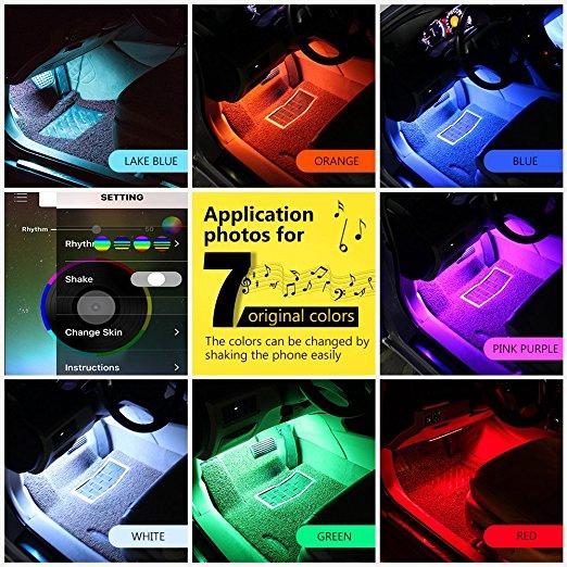Dây Đèn Led Neon Trang Trí Nội Thất Xe Ô Tô