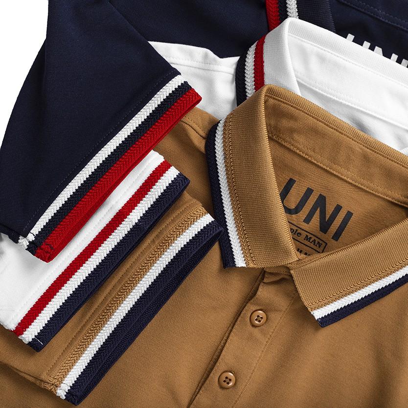 Áo thun Uni Polo Nam ôm dáng 3 màu trẻ trung