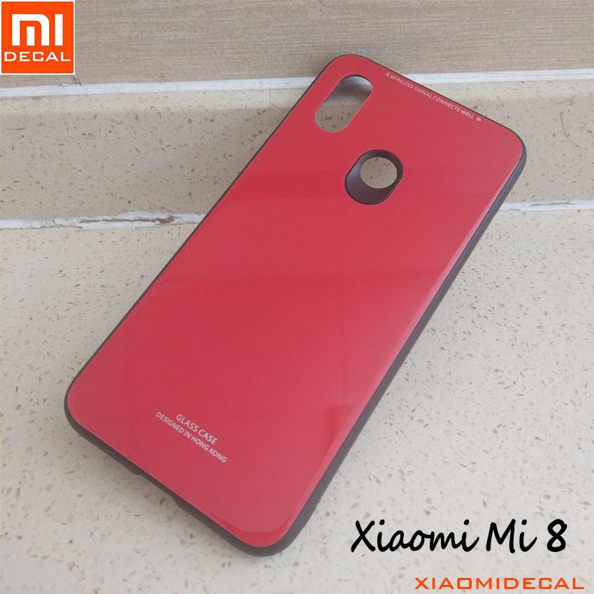 [ Xiaomi Mi 8 ] Ốp mặt lưng kính cường lực viền cao su dẻo - Đỏ - 3432119 , 1282412490 , 322_1282412490 , 69000 , -Xiaomi-Mi-8-Op-mat-lung-kinh-cuong-luc-vien-cao-su-deo-Do-322_1282412490 , shopee.vn , [ Xiaomi Mi 8 ] Ốp mặt lưng kính cường lực viền cao su dẻo - Đỏ