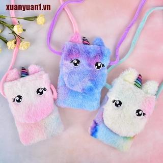 【xuanyuan1】Girls Plush Cute Gifts Purse Handbag Cross Purse Kids Plush Sho