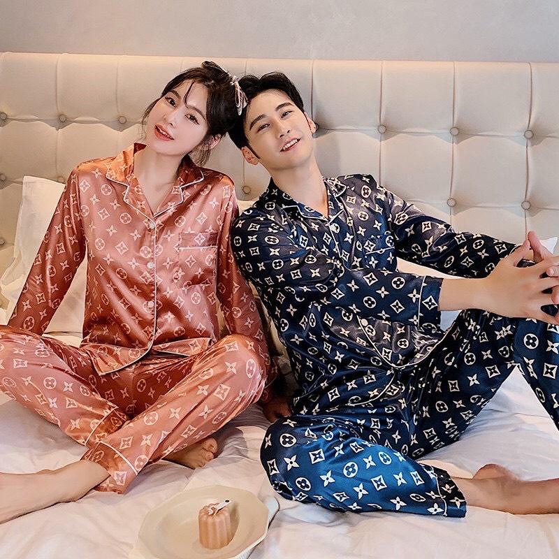 Mặc gì đẹp: Ngủ ngon với Đồ ngủ pijama nam nữ lụa bóng