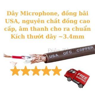 ( Hàng Bãi USA ) Dây MicroPhone , Dây Tín Hiệu Micro