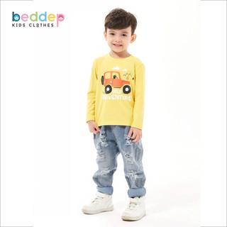 Áo thun trơn dài tay Beddep Kids Clothes cho bé trai từ 1 đến 8 tuổi thumbnail