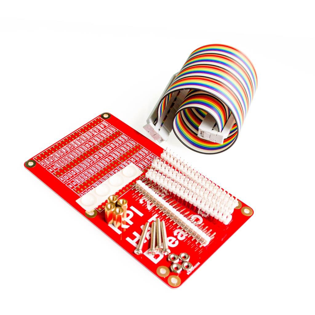 Raspberry Pi 3 HAT GPIO Expansion Board + 40P cable Kit - Red