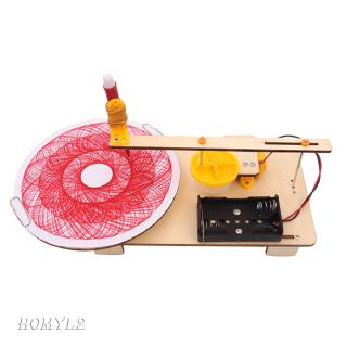 DIY Assembling Toys Educational Science Kits Electric Drawing Robot Model