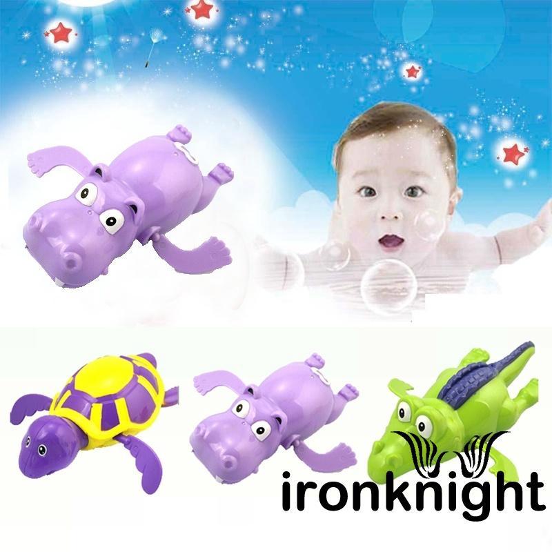 ♟Wind up Swimming Turtle/Hippopotamus/Crocodile Pool Animal Toy For Baby Kid Bath
