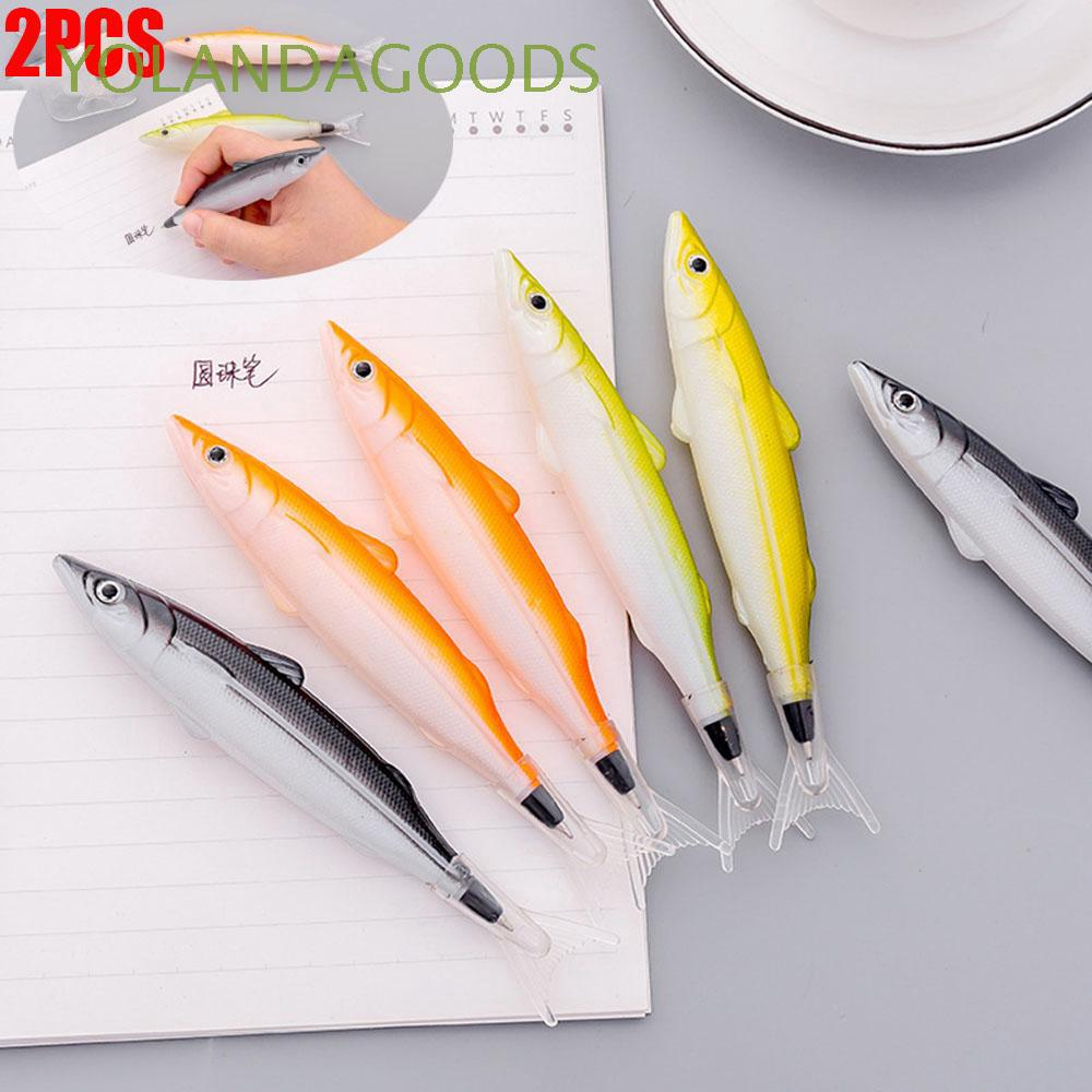 2pcs Student Office Stationery Smooth Plastic Ballpoint Pen