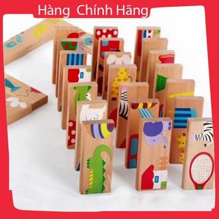 [Giảm giá] Domino gỗ – Bộ đồ chơi xếp hình, ghép hình, domino, rút gỗ 4in1_Hàng chất lượng cao