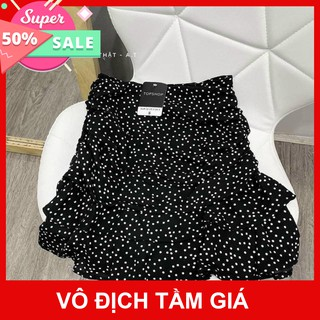 (Sỉ Tận Gốc) Quần Váy Chấm Bi Voan Lụa Nhiều Tầng Hot Trend thumbnail