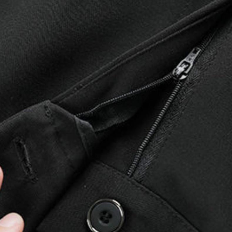 Mặc gì đẹp: Sang trọng với Quần tây nữ lưng cao ống đứng đẹp [HÀNG VNXK] Quần tây công sở nữ khóa thật vải tuyết mưa màu đen