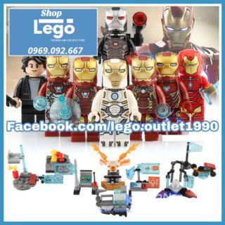Xếp hình Người sắt Iron man Tony Stark Avengers Marvel nhà máy Lego Minifigures Sy1121 thumbnail
