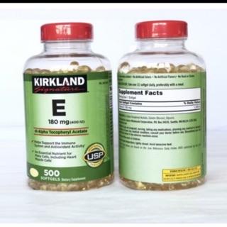 Thực phẩm bảo vệ sức khỏe Vitamin E 400 IU 500 Viên Kirkland Của Mỹ(hsd 2023)
