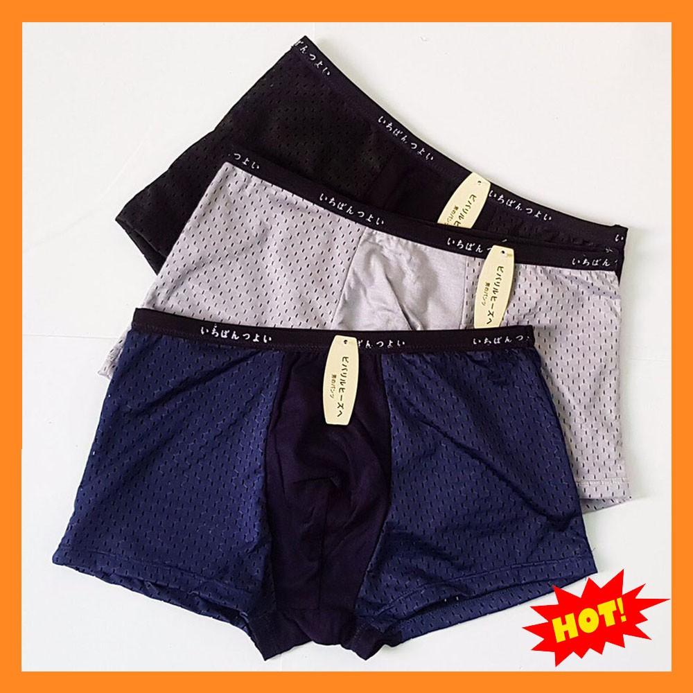 Quần lót nam muji xuất nhật cao cấp Hộp gồm 4 quần kiểu dáng quần sịp đùi
