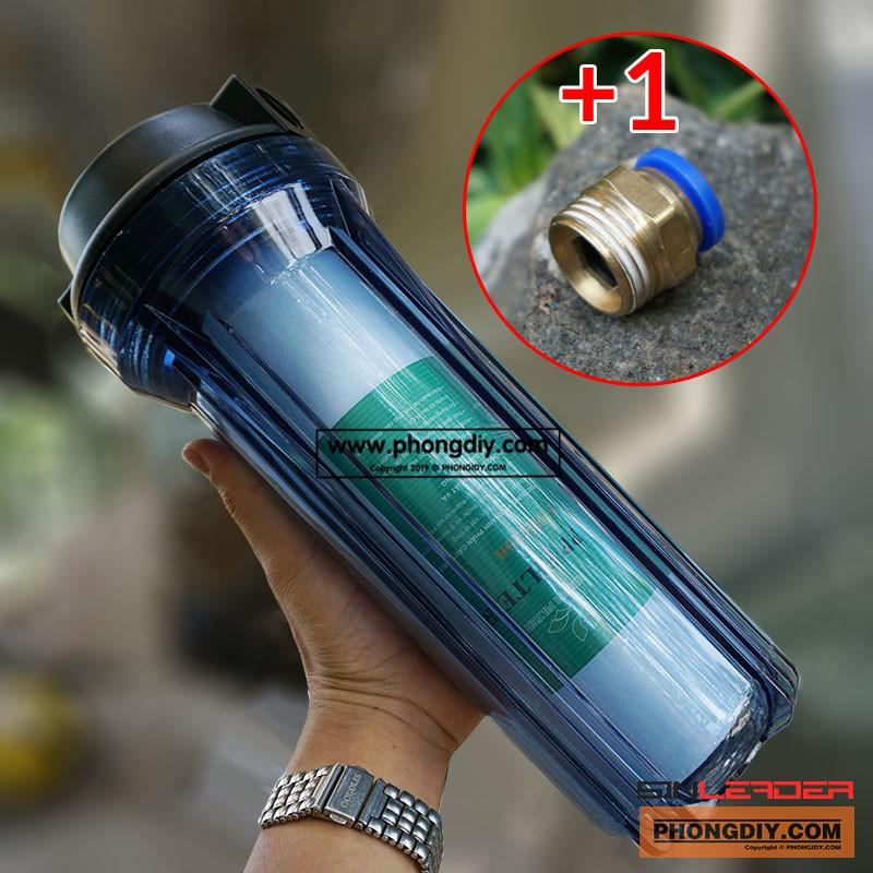 Cốc lọc thô - Ly lọc nước RO (nhựa trong) tặng kèm 1 lõi lọc