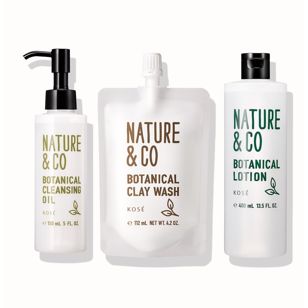 Sữa rửa mặt đất sét Kosé Nature & Co Botancial Clay Wash 115g