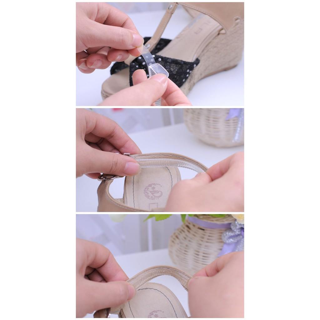 Miếng Dán Lót Dây giày Silicon cho giày quai hậu chống phồng rộp trầy gót, free size - Bộ 4 miếng   Shopee Việt Nam