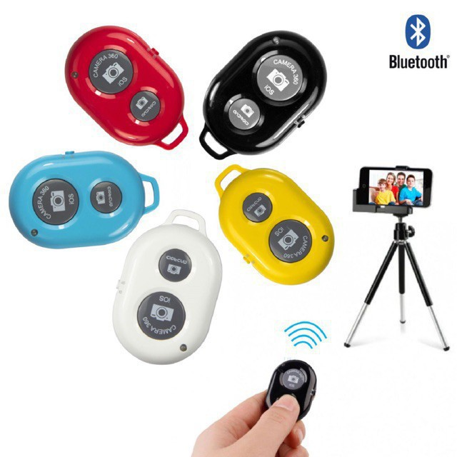 Remote Điều Khiển Chụp Ảnh Từ Xa - Nút Bấm Remote Bluetooth