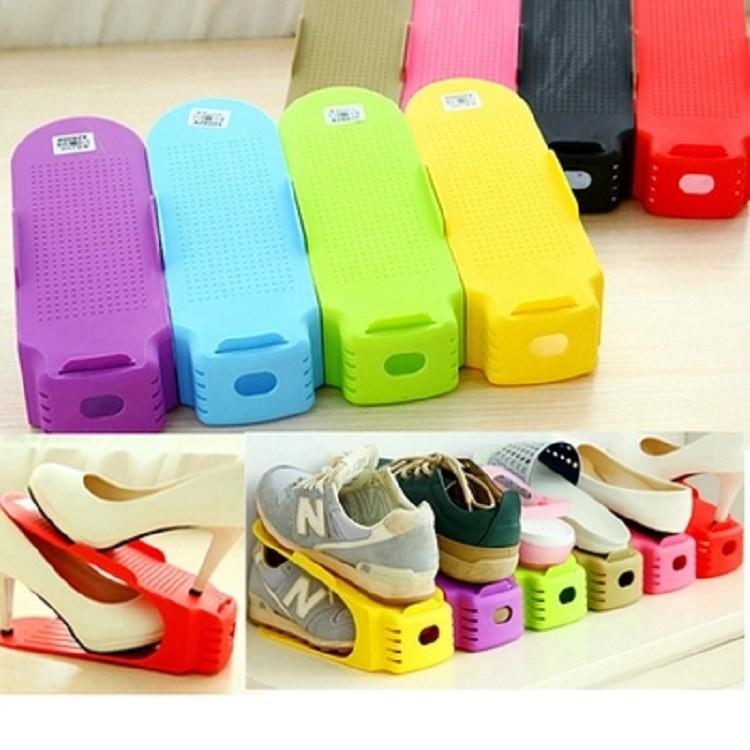 Kệ để giày tiện ích nhiêu màu - Vrg1216 - giao màu ngẫu nhiên