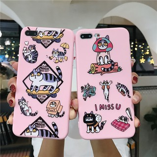 Oppo A3s A37 A83 A57 F1s F5 A57 Lovely Cartoon Pink Cat Animal Soft Case Cover