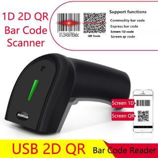 Mã vạch di động USB 2.4Ghz Máy quét mã vạch không dây Màn hình di động 1D QR Thanh toán Đầu đọc mã vạch 2D