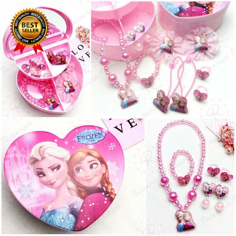 Bộ trang sức công chúa Hello Kitty dễ thương dành cho bé gái thumbnail