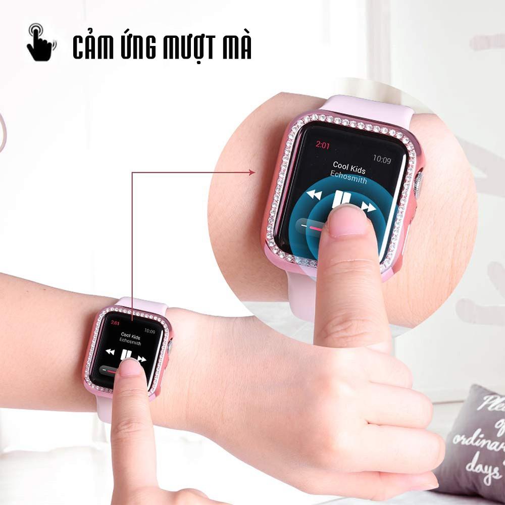 Ốp Bảo Vệ Apple Watch Đính Đá dành cho Series SE   6/5/4/3/2/1 38mm 40mm 42mm 44mm
