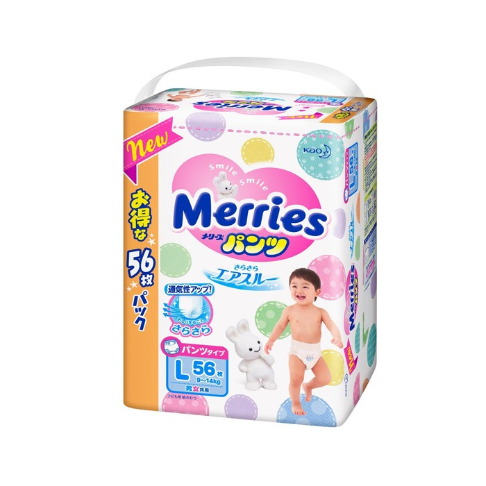 Bỉm Merries Nội địa dán/quần size SS90,S82,M64,M58,L54,L44,,XL38, XXL26