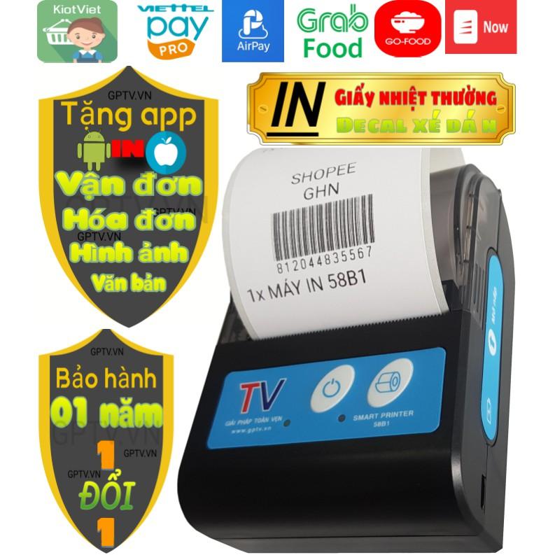 Máy in Bluetooth nhiệt Mini không dây [KiotViet Viettelpay Airpay  vận đơn hóa đơn, phiếu tính tiền ảnh chụp màn hình]