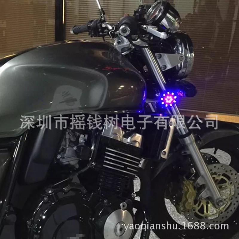 Cặp đèn kiểu độ xi nhan đèn phanh xe mô tô