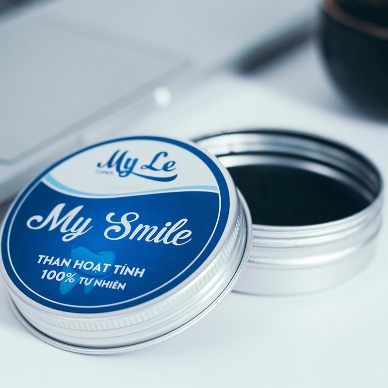 Bột trắng răng than hoạt tính My Smile 50gr bột đánh răng từ than tre hoạt tính