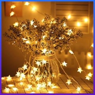 Dây đèn led trang trí 3m hình ngôi sao năm cánh xinh xắn
