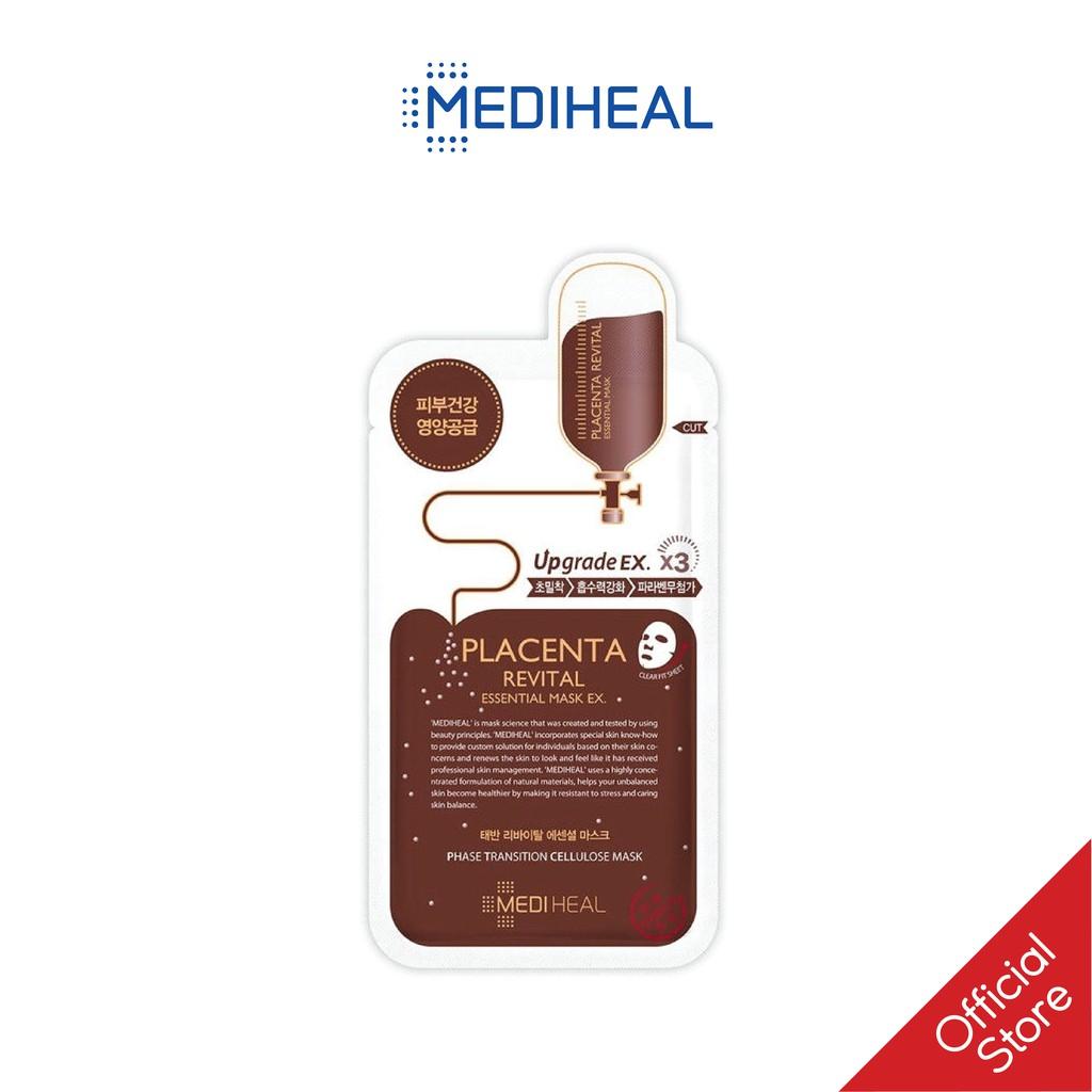 [Mã COSKVIC25- 10% ĐH150K]Mặt Nạ Nhau Thai Cừu Phục Hồi Da Mediheal Placenta Revital Essential Mask Ex 24ml