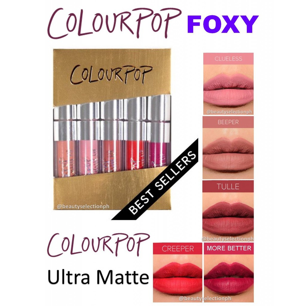 Colourpop ‼️ Tách set son kem lỳ minisize Foxy Mini Liquid Lipstick Set - 2517351 , 76251055 , 322_76251055 , 150000 , Colourpop-Tach-set-son-kem-ly-minisize-Foxy-Mini-Liquid-Lipstick-Set-322_76251055 , shopee.vn , Colourpop ‼️ Tách set son kem lỳ minisize Foxy Mini Liquid Lipstick Set