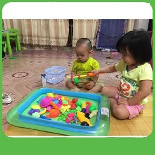 [CỰC ĐẸP] Bể phao câu cá cho trẻ em
