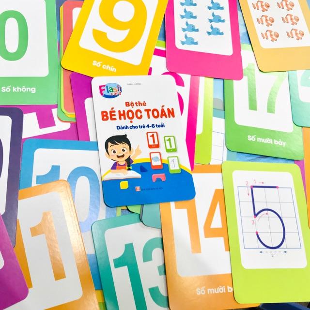 (⭐NEW⭐)Bộ flashcard thẻ học chữ cái, chữ số cho bé