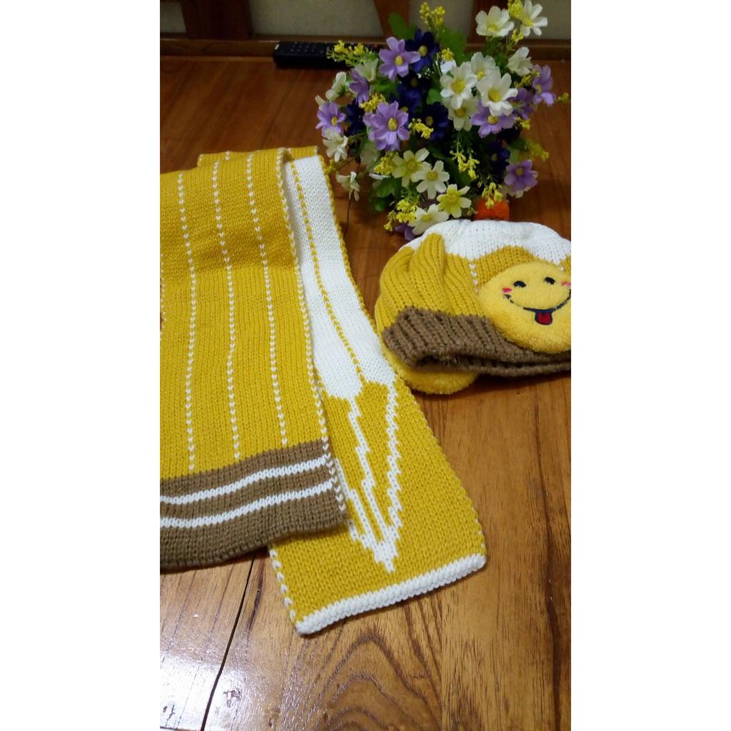 Mũ và khăn len cho bé từ 6th đến 3 tuổi (ảnh tự chụp)