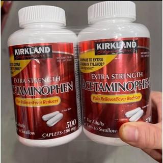 Kirkland Extra Strength Rapid Release Acetaminophen 500mg 500 viên