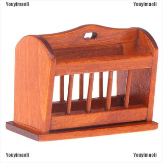 Youyimaoli 1:12 Dollhouse Miniature Mini Wooden Furniture Newspaper Book Basket Model