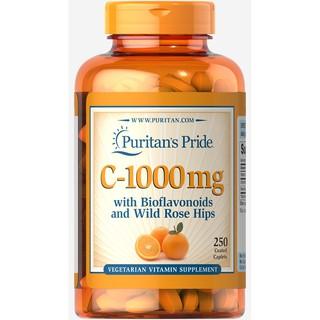Viên uống chống lão hóa - Tăng sức đề kháng - đẹp da ngừa thâm puritan s Pride vitamin C 1000mg 250v