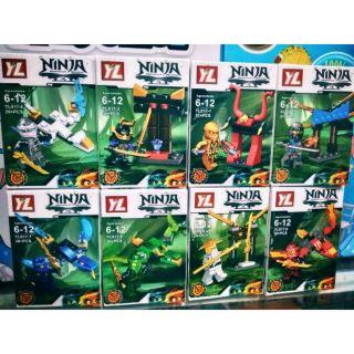 LEGO Ninjago:trọn bộ 8 hộp lego 8in2/4in1&2in1
