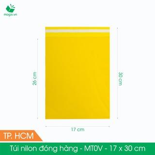 MT0V - 17x30 cm - Túi nilon gói hàng - 100 túi niêm phong đóng hàng màu vàng thumbnail