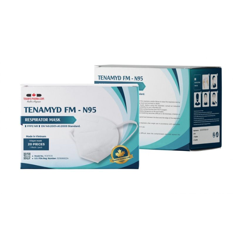 Khẩu Trang Kháng Khuẩn FM - N95 TENAMYD