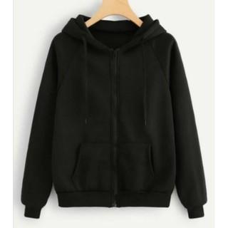 Áo hoodie khóa zip unisex black - hoodie dây kéo form rộng màu đen M L XL 2XL 40kg - 85kg
