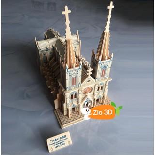Mô hình lắp ráp gỗ 3D Nhà thờ Đức Bà