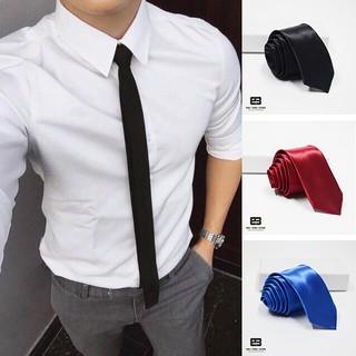 Cà vạt lụa unisex bản nhỏ 5cm, cà vạt kỷ yếu, cavat đồng phục, cravat giá rẻ quay Tiktok cực chất