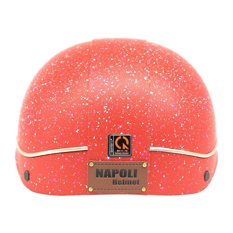 Mũ bảo hiểm nữa đầu Napoli X105 Freesize (Đỏ)